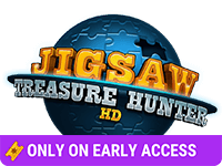 Jigsaw Treasure Hunter HD - Game Logo - Only on Early Access