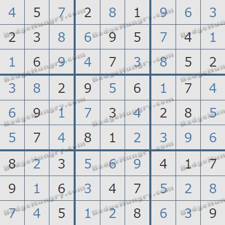 Pogo Daily Sudoku Solutions: December 1, 2019