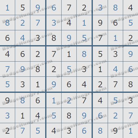 Pogo Daily Sudoku Solutions: December 3, 2019