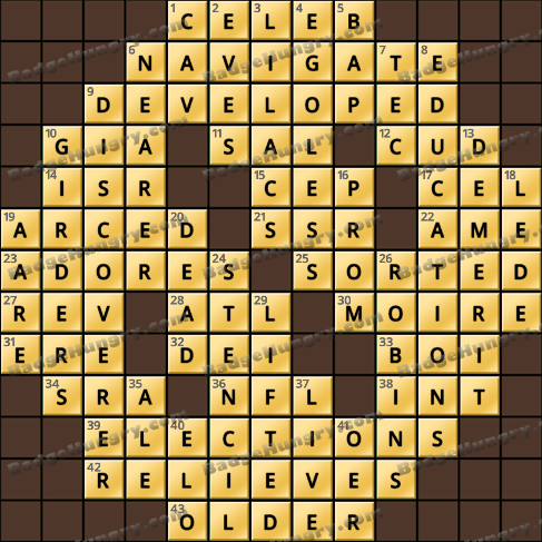 Crossword Cove HD Solution: December 3, 2019