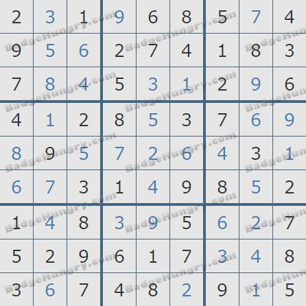 Pogo Daily Sudoku Solutions: December 5, 2019