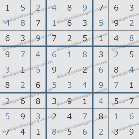 Pogo Daily Sudoku Solutions: December 6, 2019