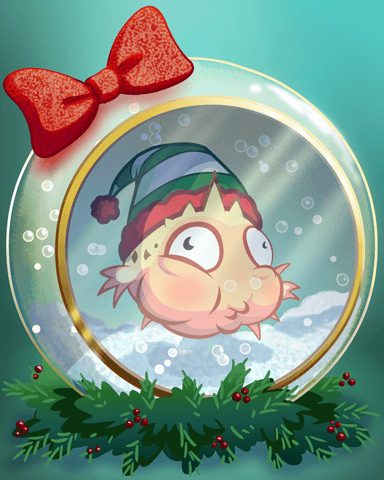 Quinn's Aquarium Holiday Ornament Badge