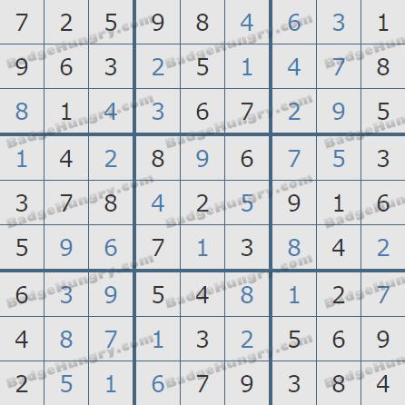 Pogo Daily Sudoku Solutions: December 8, 2019