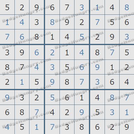 Pogo Daily Sudoku Solutions: December 9, 2019