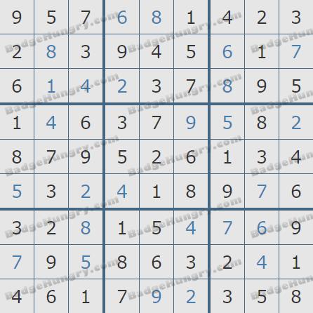Pogo Daily Sudoku Solutions: December 11, 2019