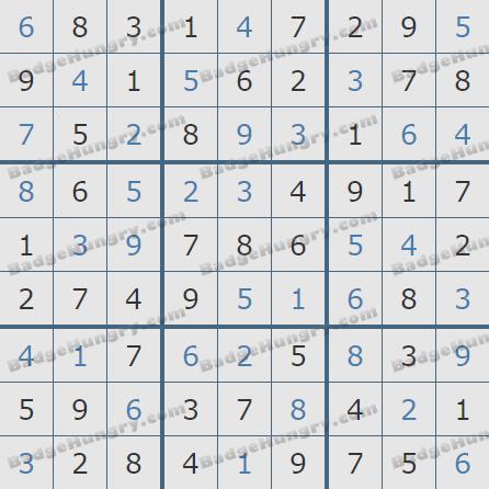Pogo Daily Sudoku Solutions: December 13, 2019
