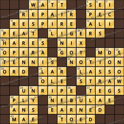 Crossword Cove HD Solution: December 14, 2019