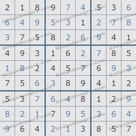 Pogo Daily Sudoku Solutions: December 15, 2019
