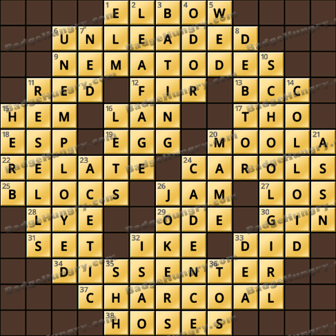 Crossword Cove HD Solution: December 17, 2019