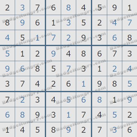 Pogo Daily Sudoku Solutions: December 19, 2019