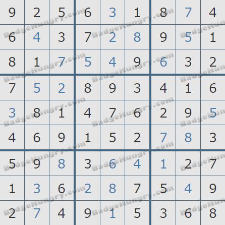 Pogo Daily Sudoku Solutions: December 20, 2019