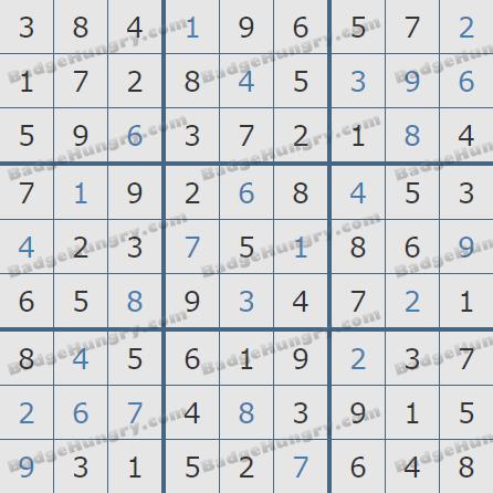 Pogo Daily Sudoku Solutions: December 21, 2019