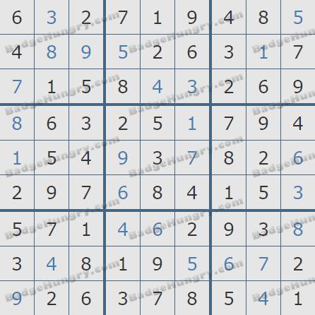 Pogo Daily Sudoku Solutions: December 22, 2019