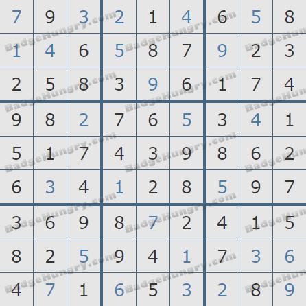 Pogo Daily Sudoku Solutions: December 23, 2019