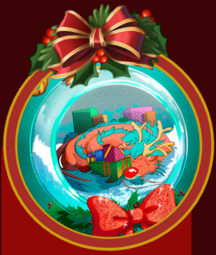 Mahjong Garden HD Holiday Ornament Badge