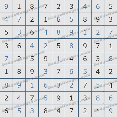 Pogo Daily Sudoku Solutions: December 25, 2019