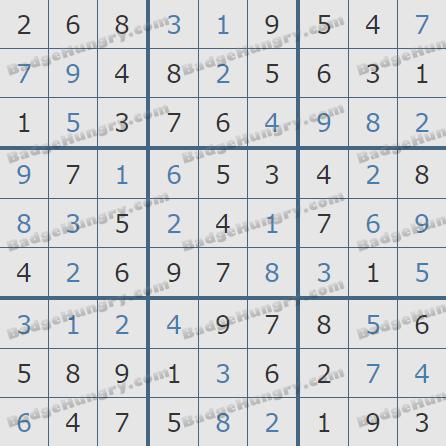 Pogo Daily Sudoku Solutions: December 27, 2019