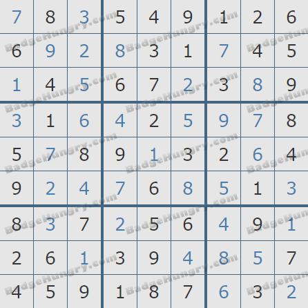 Pogo Daily Sudoku Solutions: December 29, 2019