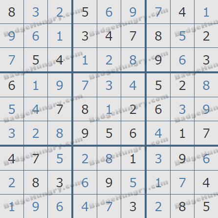 Pogo Daily Sudoku Solutions: December 30, 2019