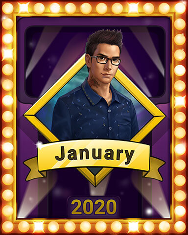 January 2020 Game of the Month Claire Hart Secret in the Shadows Badge