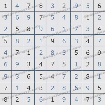 Pogo Daily Sudoku Solutions: January 1, 2020