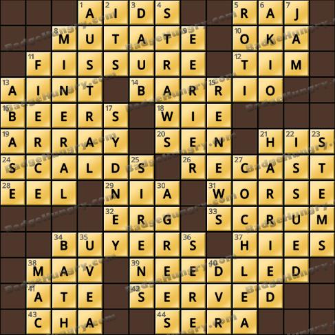 Crossword Cove HD Solution: January 3, 2020