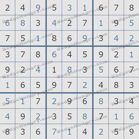 Pogo Daily Sudoku Solutions: January 4, 2020