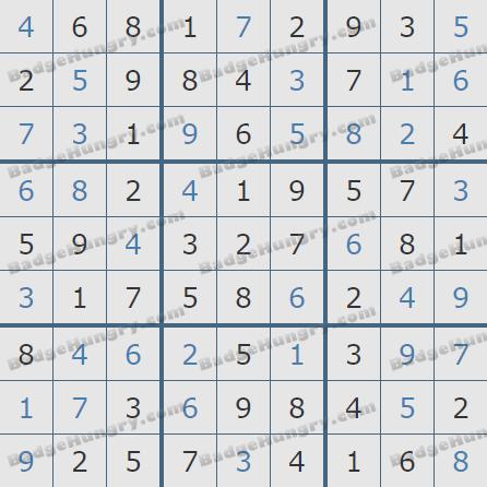 Pogo Daily Sudoku Solutions: January 6, 2020