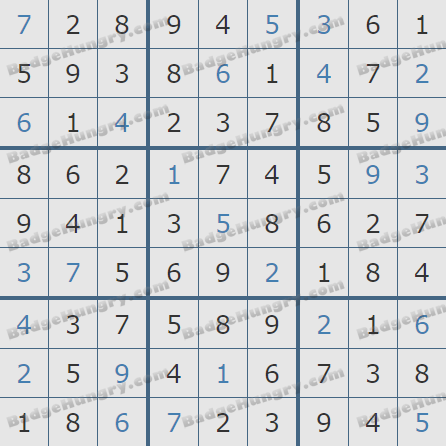 Pogo Daily Sudoku Solutions: January 9, 2020