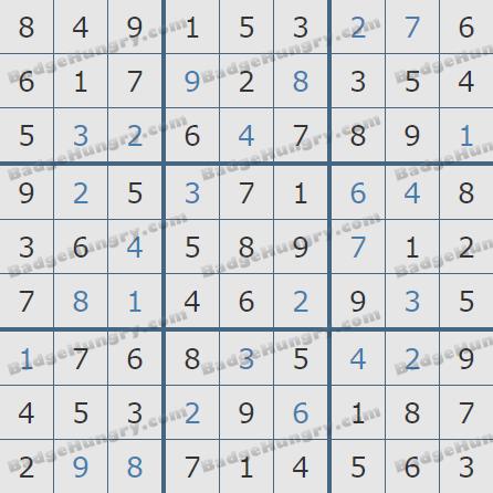Pogo Daily Sudoku Solutions: January 11, 2020