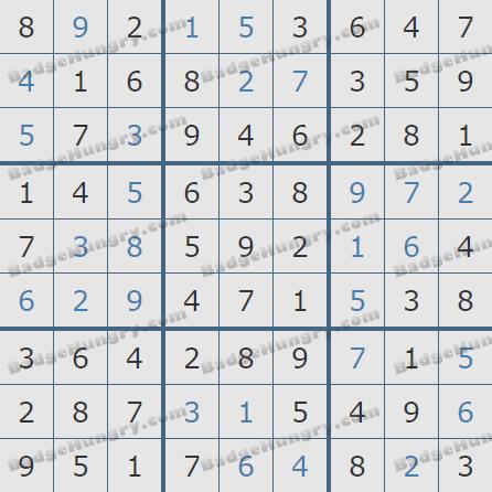 Pogo Daily Sudoku Solutions: January 16, 2020