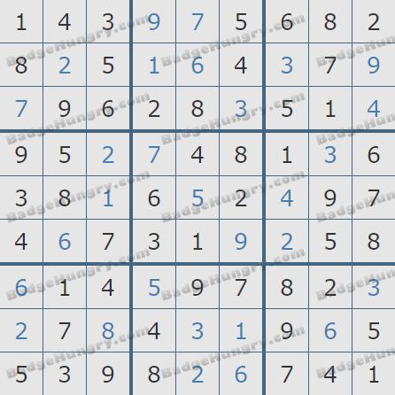 Pogo Daily Sudoku Solutions: January 20, 2020