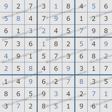 Pogo Daily Sudoku Solutions: January 22, 2020