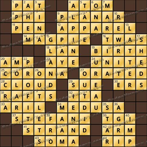 Crossword Cove HD Solution: January 22, 2020