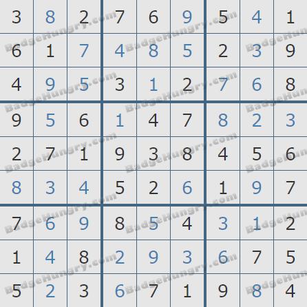 Pogo Daily Sudoku Solutions: January 23, 2020