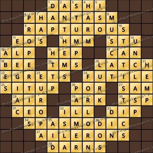 Crossword Cove HD Solution: January 24, 2020