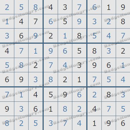 Pogo Daily Sudoku Solutions: January 27, 2020