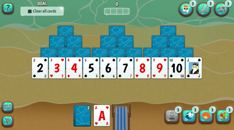 Snowbird Solitaire (screenshot)