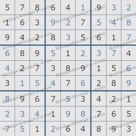 Pogo Daily Sudoku Solutions: February 1, 2020