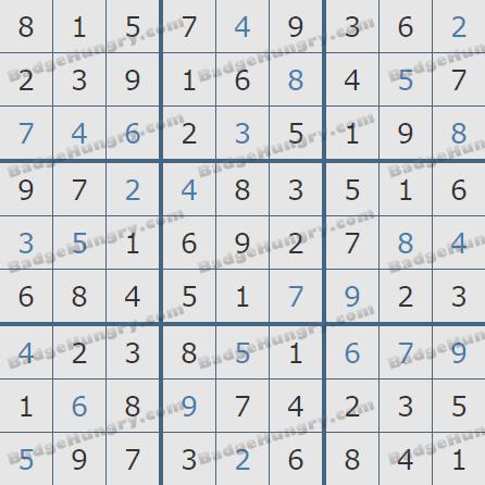 Pogo Daily Sudoku Solutions: February 2, 2020