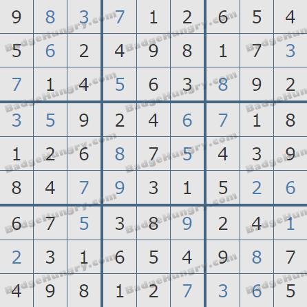 Pogo Daily Sudoku Solutions: February 3, 2020