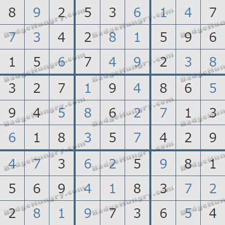 Pogo Daily Sudoku Solutions: February 4, 2020