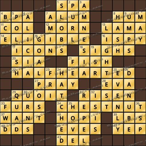 Crossword Cove HD Solution: February 4, 2020