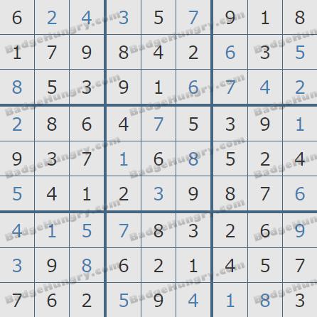 Pogo Daily Sudoku Solutions: February 7, 2020