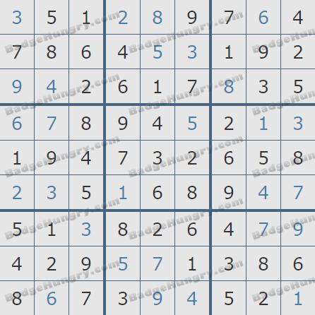 Pogo Daily Sudoku Solutions: February 8, 2020