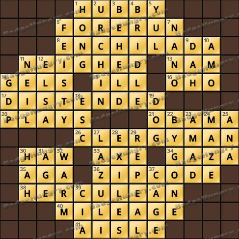 Crossword Cove HD Solution: February 8, 2020