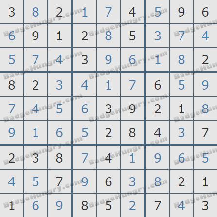 Pogo Daily Sudoku Solutions: February 9, 2020