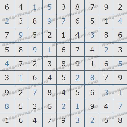 Pogo Daily Sudoku Solutions: February 11, 2020