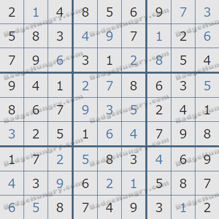 Pogo Daily Sudoku Solutions: February 16, 2020